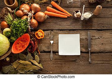 Healthy organic vegetables diet.