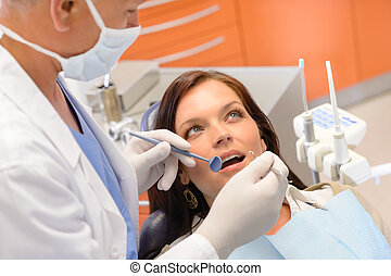 Healthy patient at dentist office
