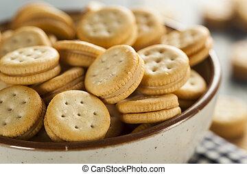 Healthy Peanut Butter Sandwich Crackers