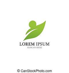 Healthy People Logo natural leaf