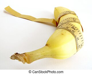 healthy - bannana with tape measure
