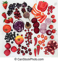 Healthy Red and Purple Super Food