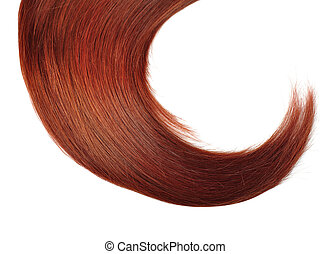 Red Hair - Healthy Red Hair isolated on white background