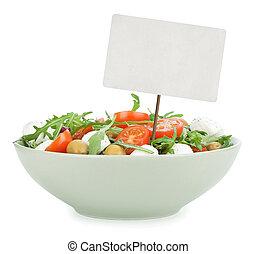healthy salad isolated