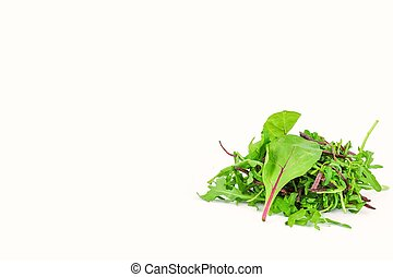 Healthy salad on a white background