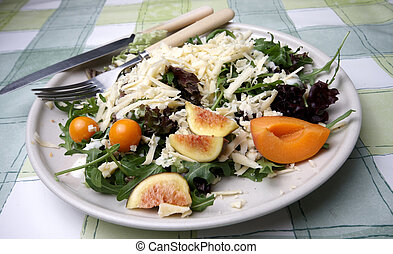 Healthy salad served on a plate