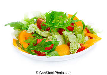 Healthy salad with fresh vegetables