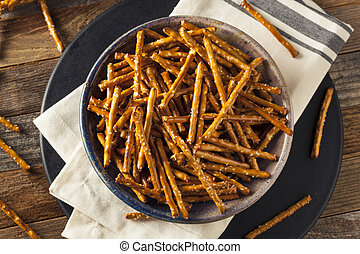 Healthy Salty Baked Pretzel Sticks