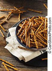 Healthy Salty Baked Pretzel Sticks