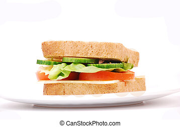 Healthy sandwich with cheese