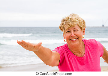 healthy senior woman exercise