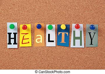 Healthy Single Word