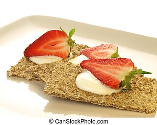 Healthy snack, closeup, isolated