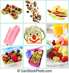 Healthy Snacking for Kids Collection - Collection of healthy...