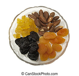 healthy snacks of dried fruit