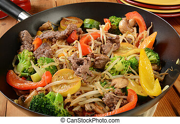 Healthy stir fry - A healthy stir fry with beef and...