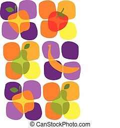 healthy summer fruit icons , vector illustration - colorful...