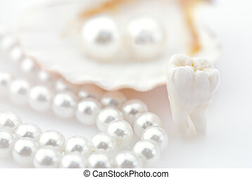 Healthy teeth concept. Real human wisdom tooth and natural...