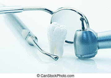 Healthy teeth concept. Real human wisdom tooth and dental...