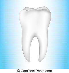 Healthy Teeth - illustration of healthy tooth on abstract...