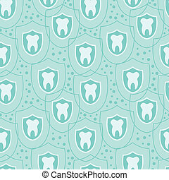 Healthy teeth seamless pattern background - vector healthy...