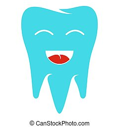 Healthy tooth icon, flat style.
