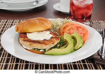 Healthy turkey burger