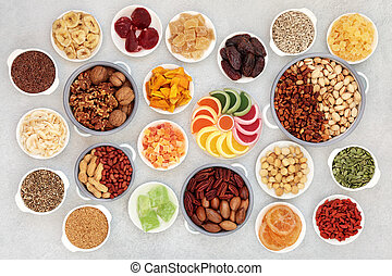 Healthy Vegan Dried Fruit Nuts and Seeds
