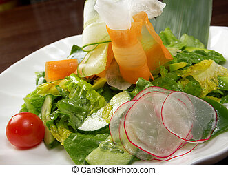 Healthy vegetable salad.