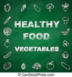 Healthy vegetables background