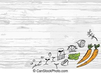 Healthy vegetables menu background