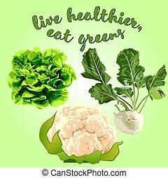 Healthy vegetables vector