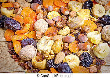 Healthy vegetarian food - dried fruit