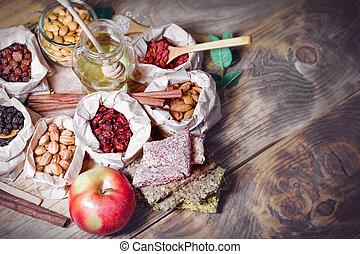 Healthy vegetarian food, healthy organic food