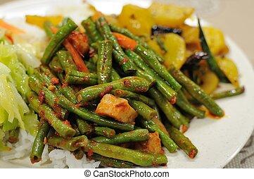 Healthy vegetarian set meal