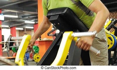 .healthy, werken, levensstijl, gym, simulators., sportende,...