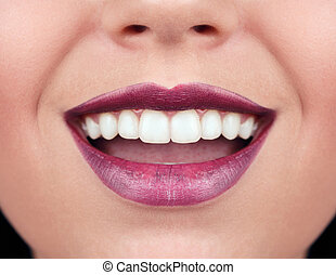 Healthy woman teeth and smile.