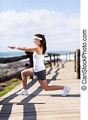 healthy woman workout