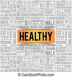 HEALTHY word cloud background