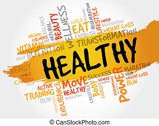 HEALTHY word cloud, fitness