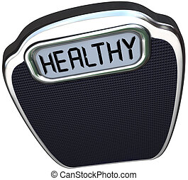Healthy Word Scale Wellness Health Care Lose Weight - The...