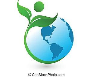 Healthy world logo background