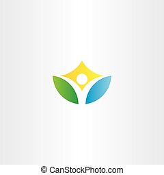 healthy yoga man vector icon logo