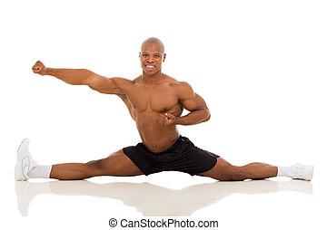 young african american man splitting