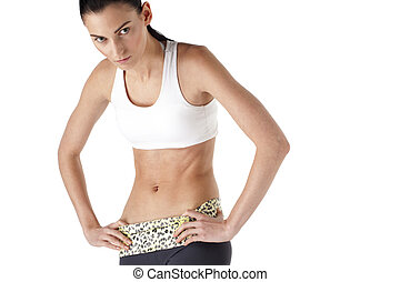 healthy young woman posing for the camera
