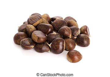 chesnuts isolated on white background