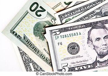 heap of American dollars (closeup)