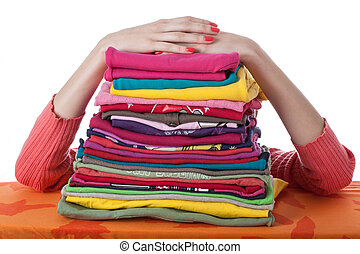 Heap of arranged clothes