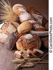 heap of bread and wheat