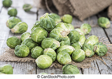 Heap of Brussel Sprouts - Small heap of fresh Brussel...